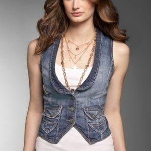 [GUESS] Vintage Reconstructed Lace-up Denim Vest